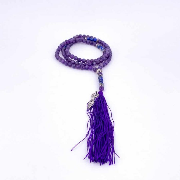 Amethyst Lapis Lazuli Goddess Mala W900 H900
