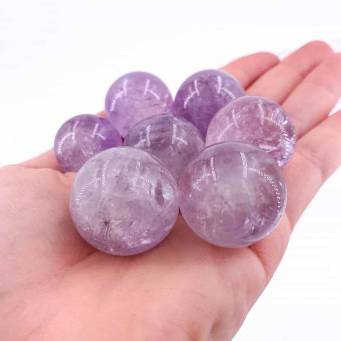 Amethyst Sphere Small Single/5-Pack