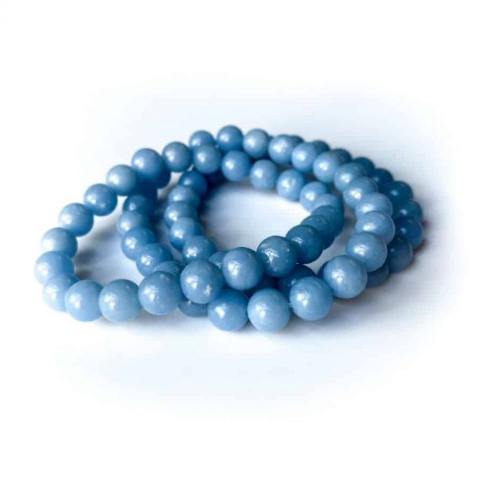 Angelite 8mm Bead Bracelet