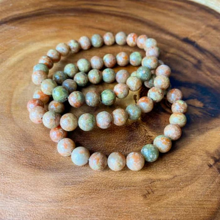 Autumn Jasper 8mm Bead Bracelet