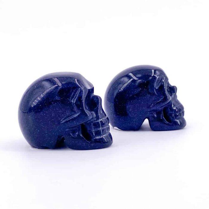 Blue Goldstone Skull2 W900 H900