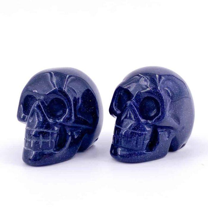 Blue Goldstone Skull Totem