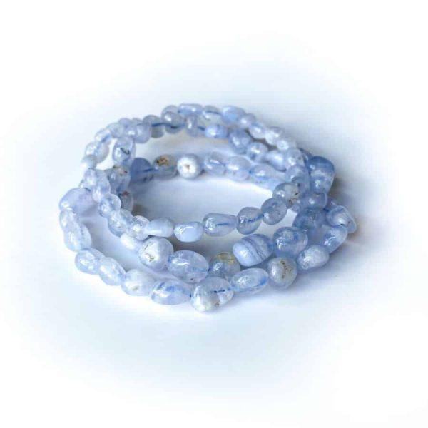 Blue Lace Agate Oblong Bracelet2