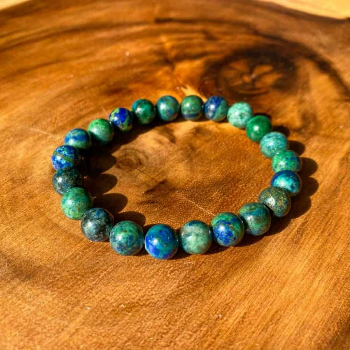 Chrysocolla 8 Mm Bracelet