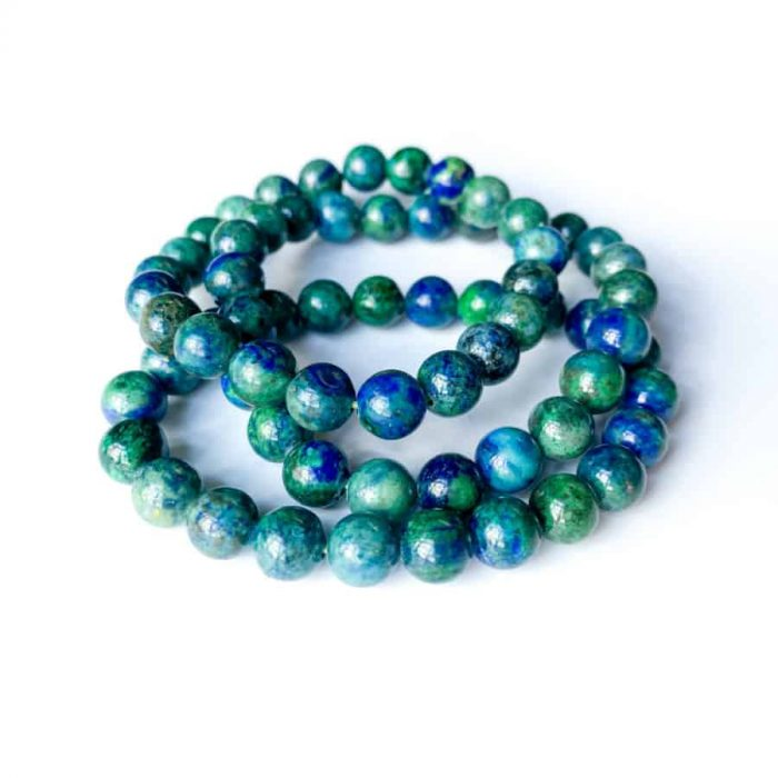 Chrysocolla 8mm Bead Bracelet