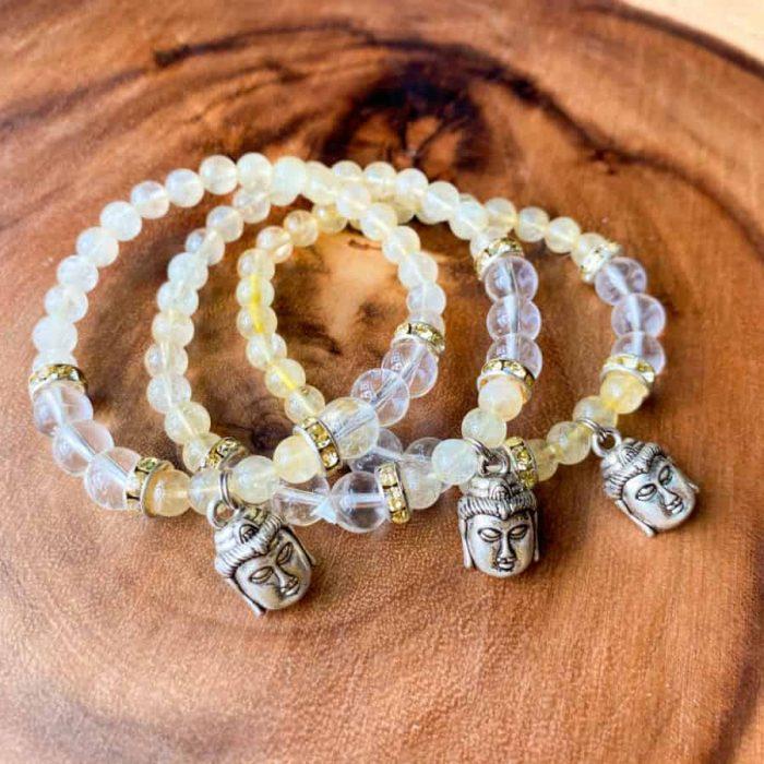 Abundance Citrine Buddha Bracelet