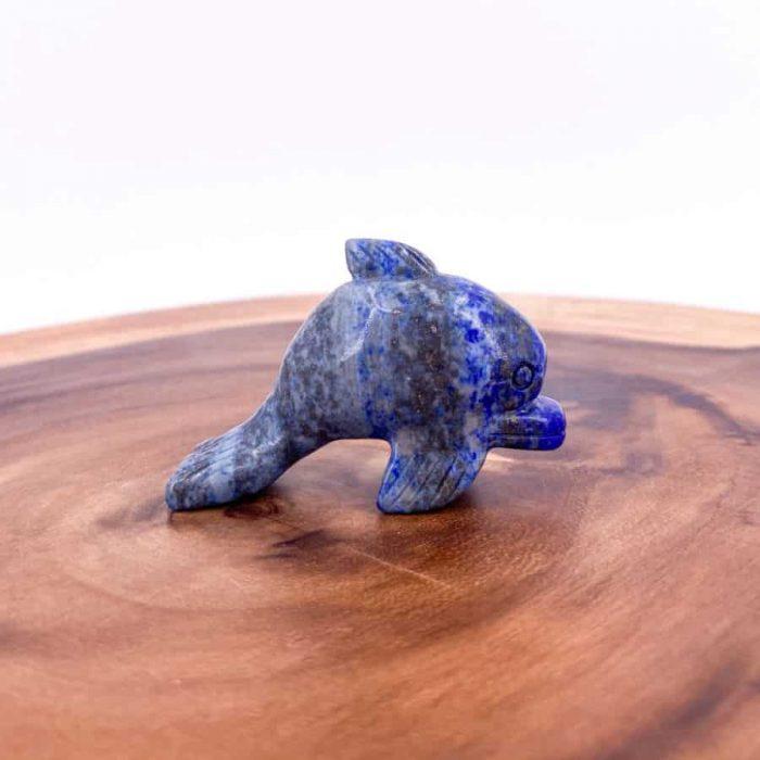 Lapis Lazuli Dolphin Totem