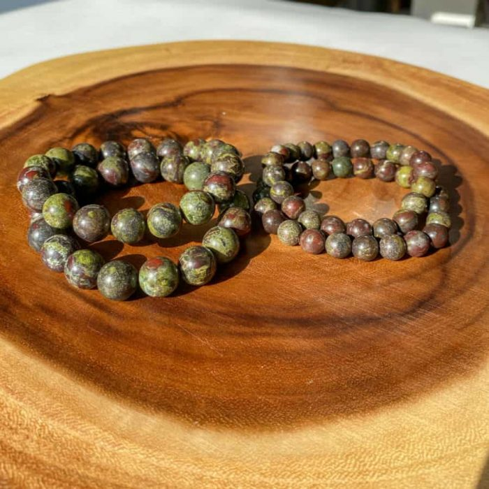Dragon Bloodstone 12mm Bead Bracelet