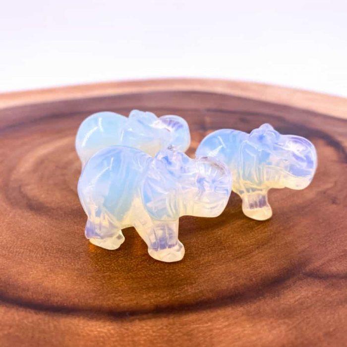 Opalite Elephant Totem