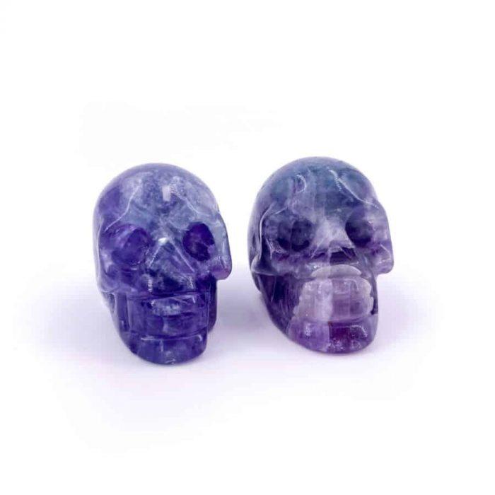 Fluorite Skull Totem