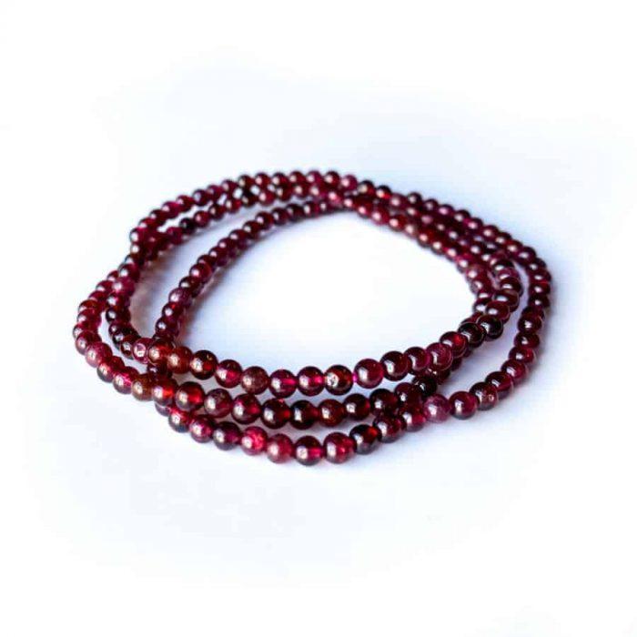 Garnet Bracelet 4mm