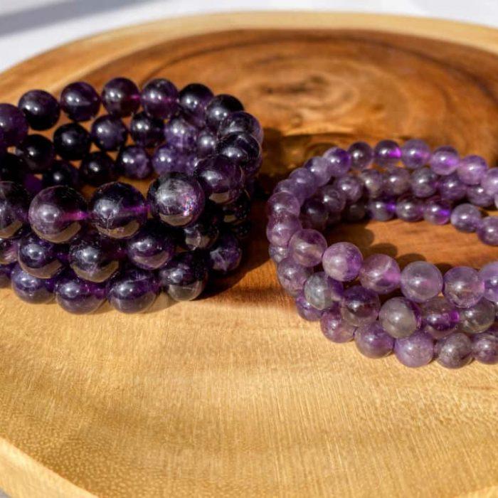 Amethyst 8mm Bead Bracelet