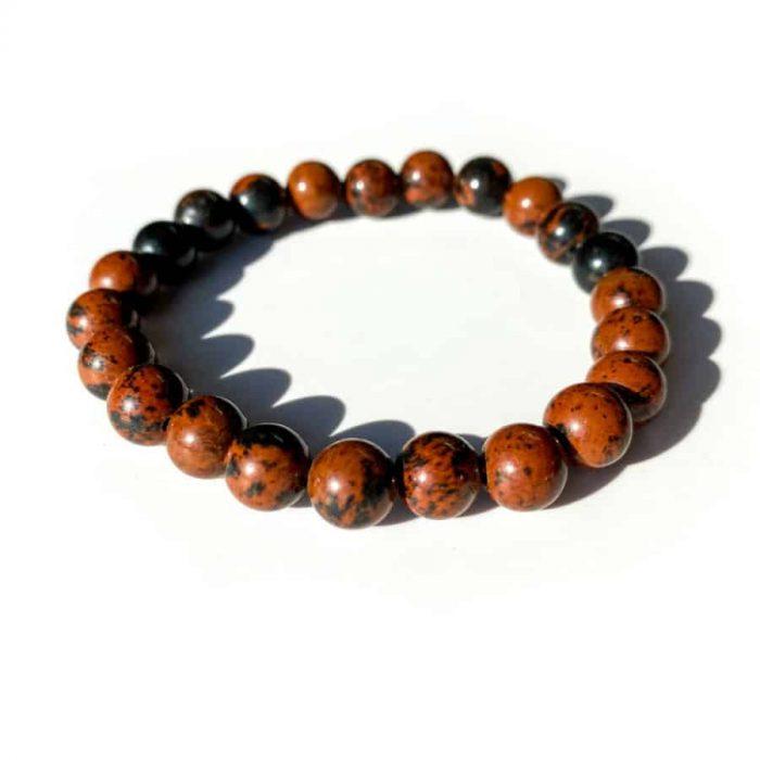 Mahogany Obsidian 8mm Bead Bracelet
