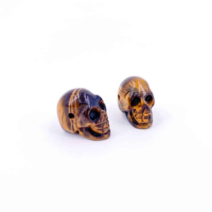 Pre-Drilled Tiger's Eye Skull
