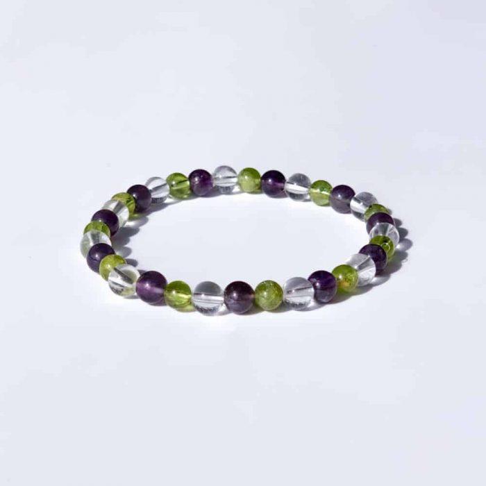 Peridot Amethyst Gem Bracelet2