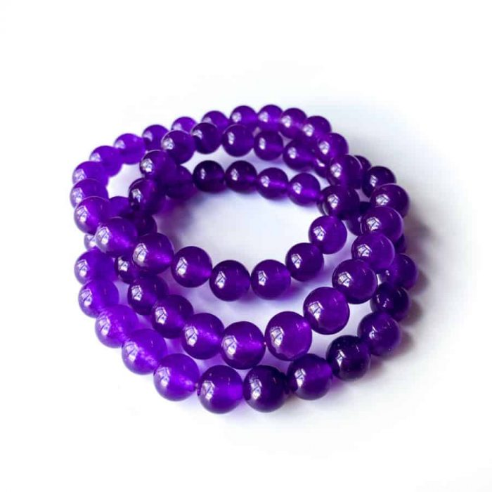 Purple Jade 8mm Bracelet