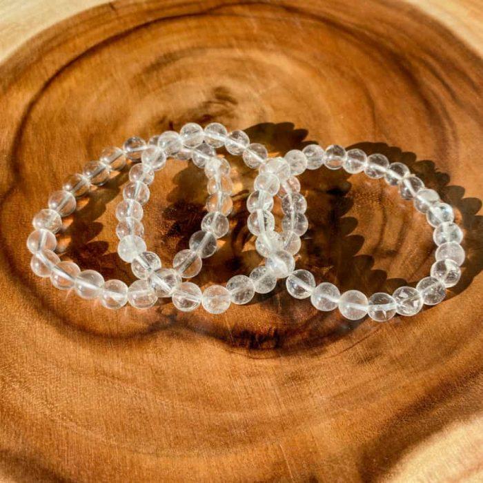 Clear Quartz 8mm Bead Bracelet