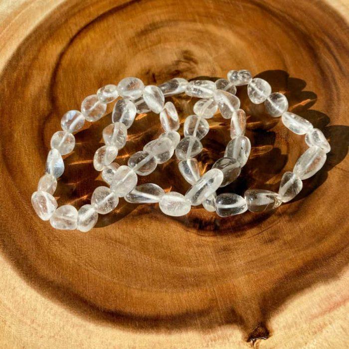 Clear Quartz Free Form Bracelet