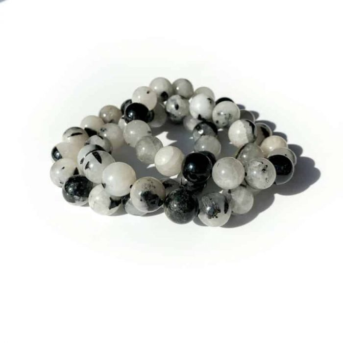 Black Tourmaline Rutile 12 Mm Bracelet