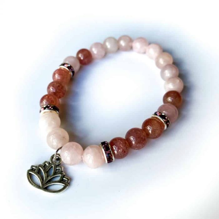 Rose Quartz W: Strawberry Quartz W: Lotus Charm