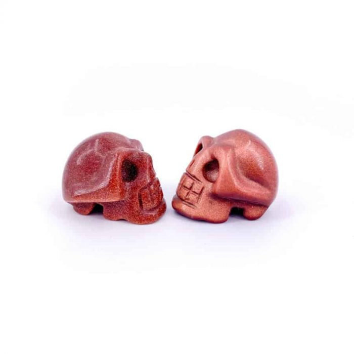Skull Red Goldstone 3 W900 H900