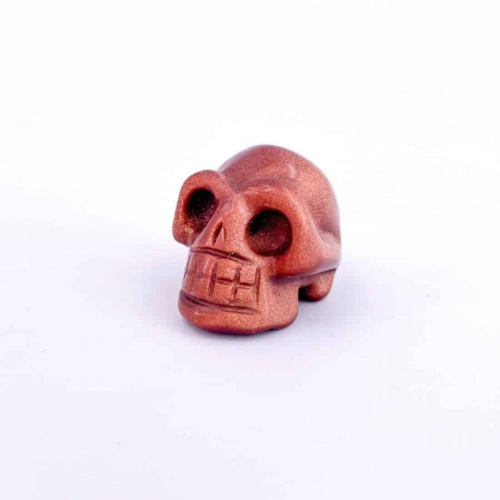 Skulls 1 Inch (Red Goldstone, Rose Quartz)