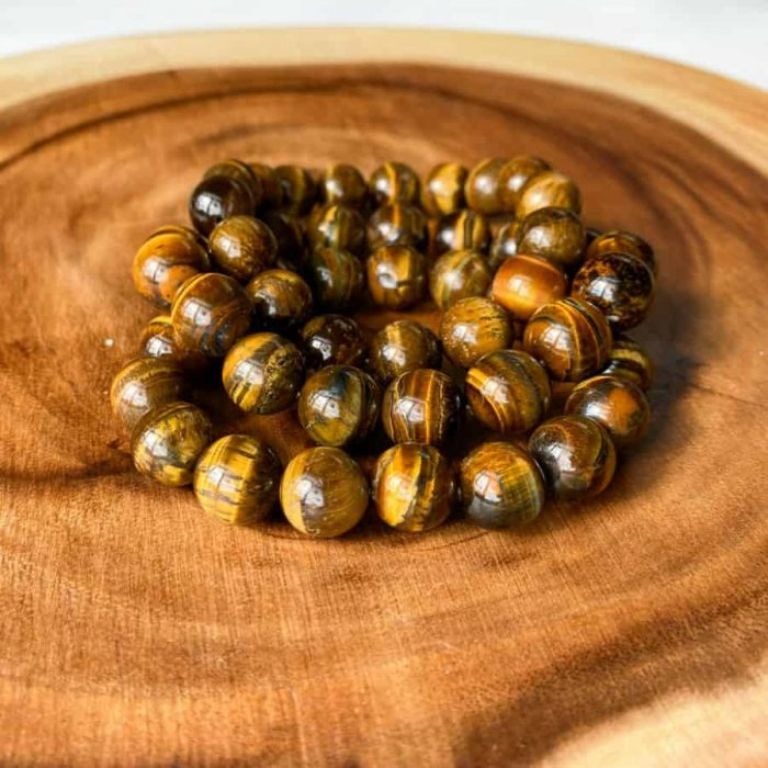 Tiger Eye 12mm Bead Bracelet
