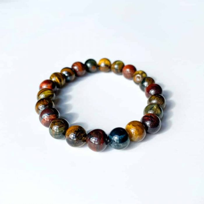 Tri Color Tiger Eye 8 Mm Bracelet