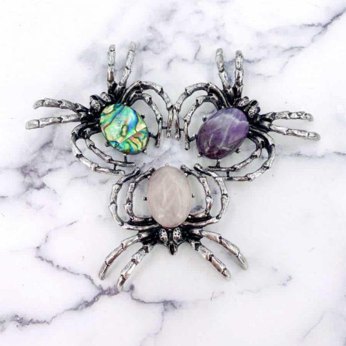 Titanium Spider Broach-Pendant