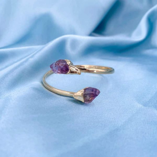 Amethyst Crystal Points Bangles 14k Gold Plated1-w900-h900