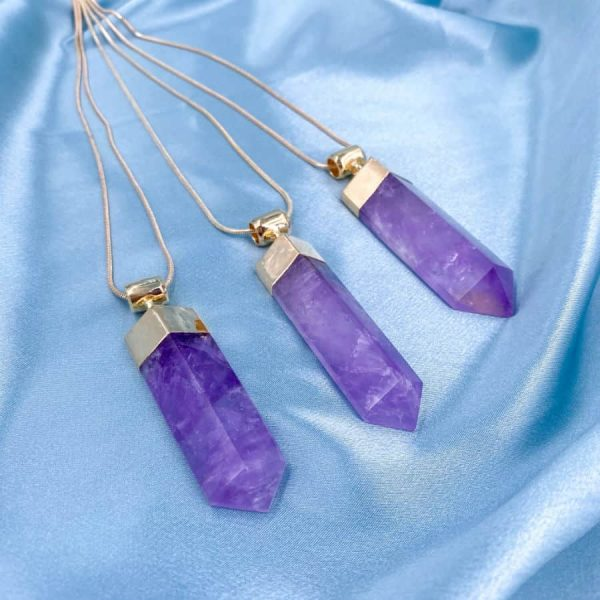 Amethyst Half Point 14k Gold Plated necklace2-w900-h900
