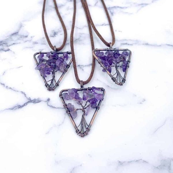 Amethyst Tree Of Life Copper Downward Triangle-w900-h900