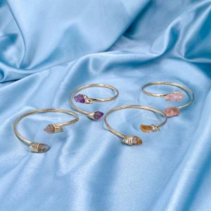 14k Gold Gemstone Bangle
