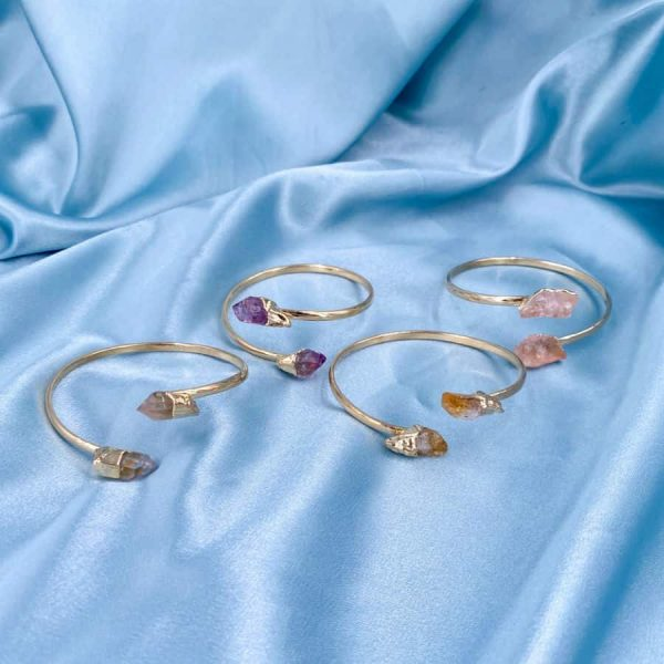 Assorted Crystal Points Bangles 14k Gold Plated1-w900-h900