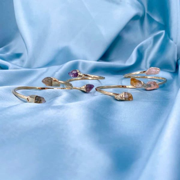 Assorted Crystal Points Bangles 14k Gold Plated2-w900-h900