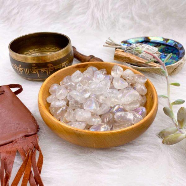 Aura Quartz Tumbles Crystals 1-w900-h900