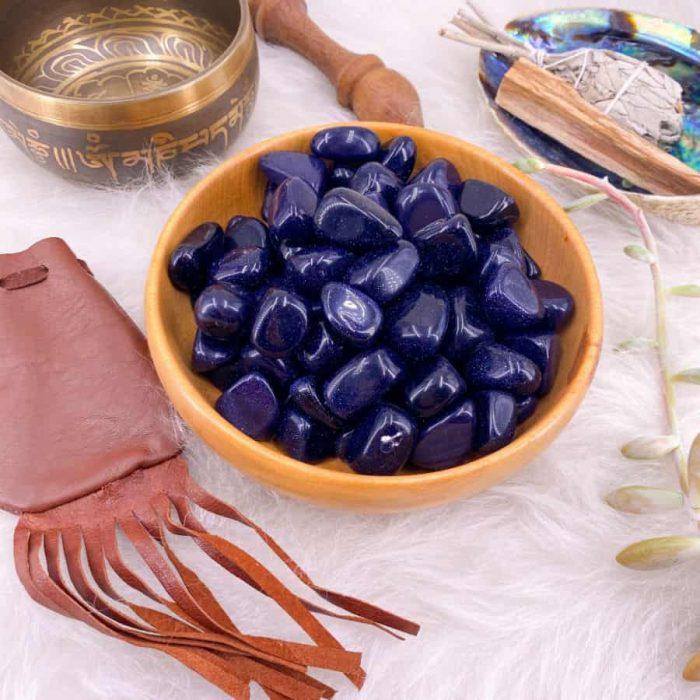 Blue Goldstone Medium Tumble Single/5-Pack