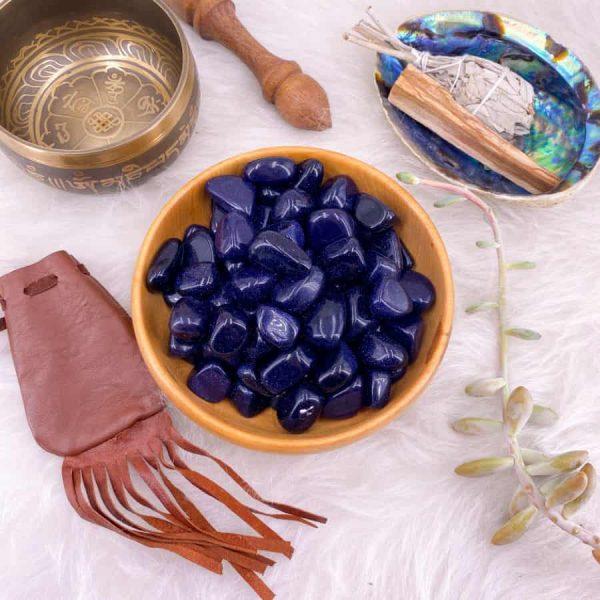 Blue Goldstone Crystals-w900-h900