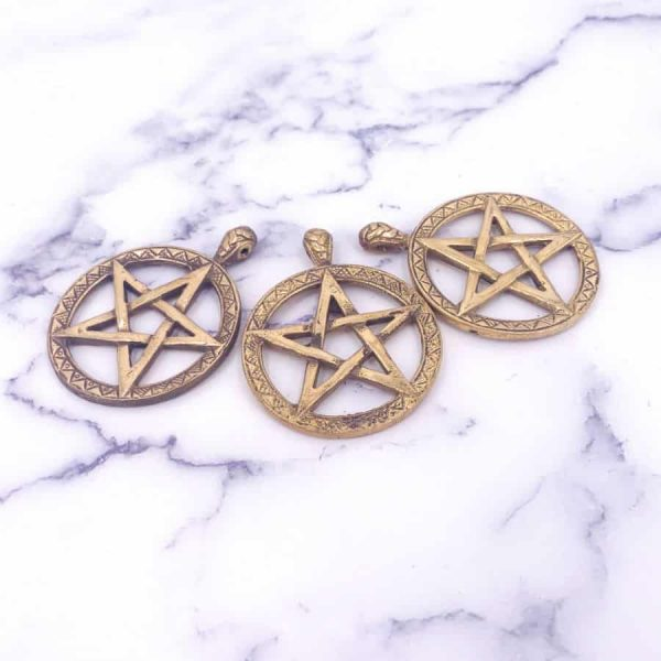 Brass Gold Pentacle Pendant 1-w900-h900