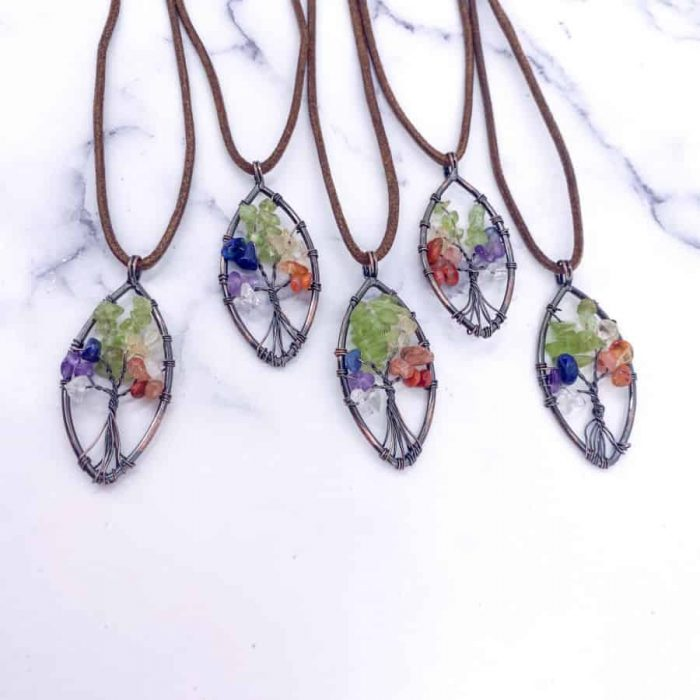 Chakra Tree Of Life Pendant Copper Oval1 W900 H900
