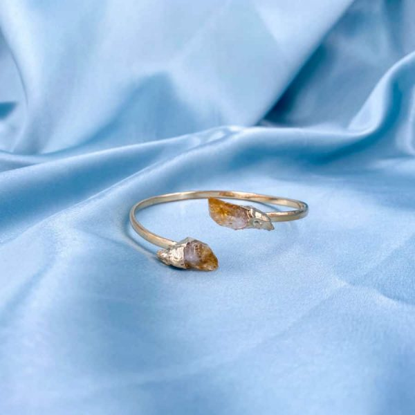 Citrine Crystal Points Bangles 14k Gold Plated1-w900-h900