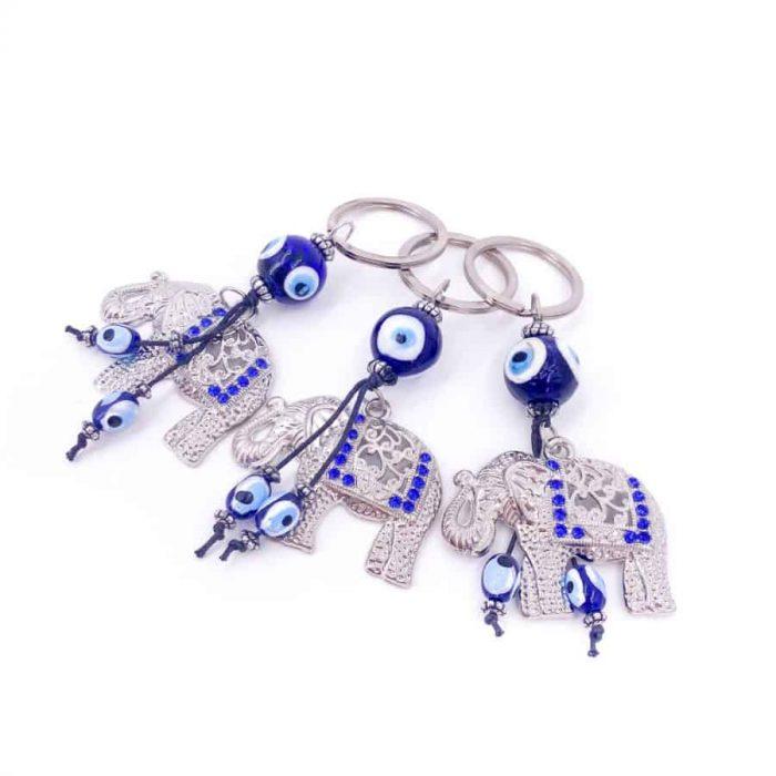 Elephant Evil Eye Keychain 2 W900 H900