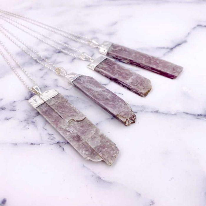 Lepidolite Silver Pendant2 W900 H900