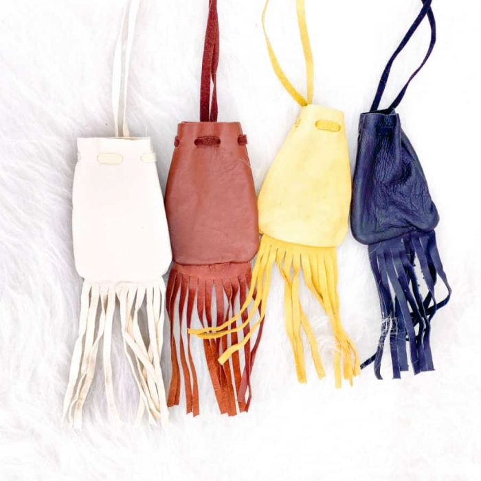 Leather Medicine Bags Small
