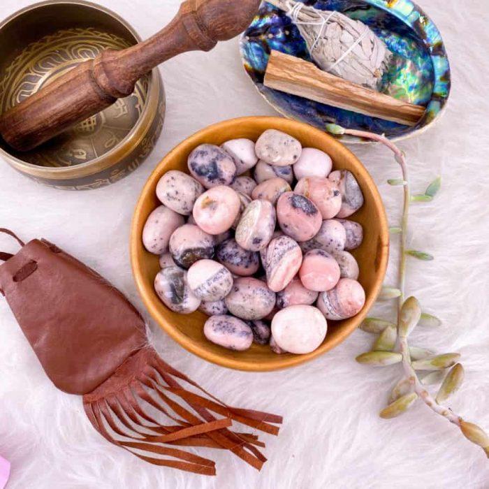 Pink Opal Medium Tumble Single/5-Pack
