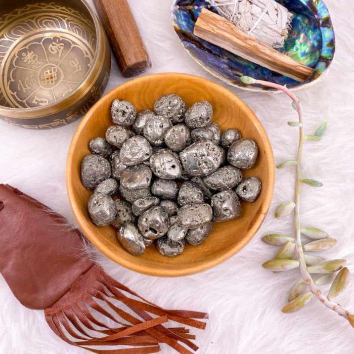 Pyrite Medium Tumble Single/5-Pack