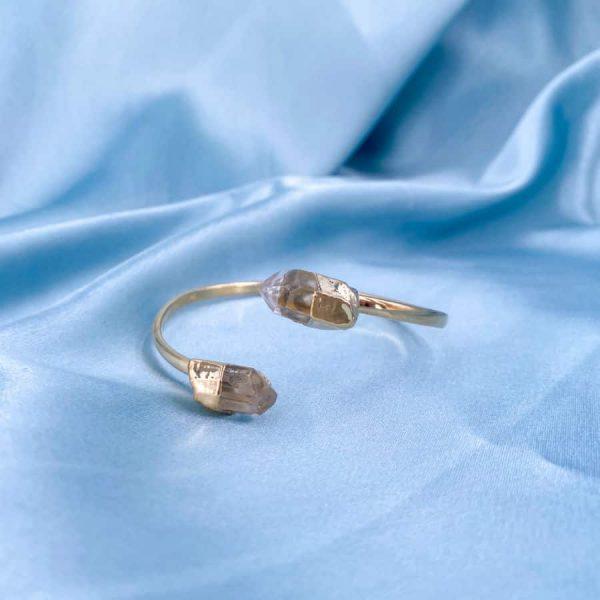 Quartz Crystal Points Bangles 14k Gold Plated1-w900-h900