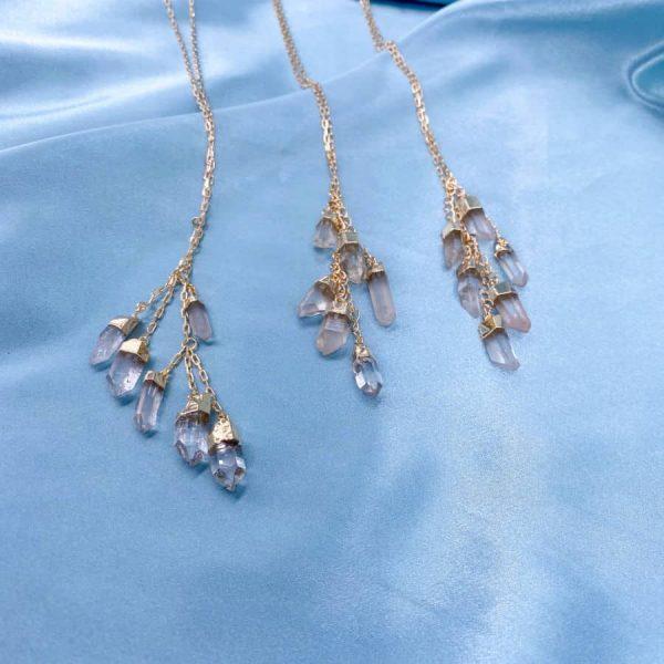 Quartz Multi Stone 14k Gold Plated Necklace1-w900-h900