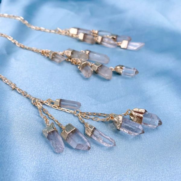 Quartz Multi Stone 14k Gold Plated Necklace3-w900-h900
