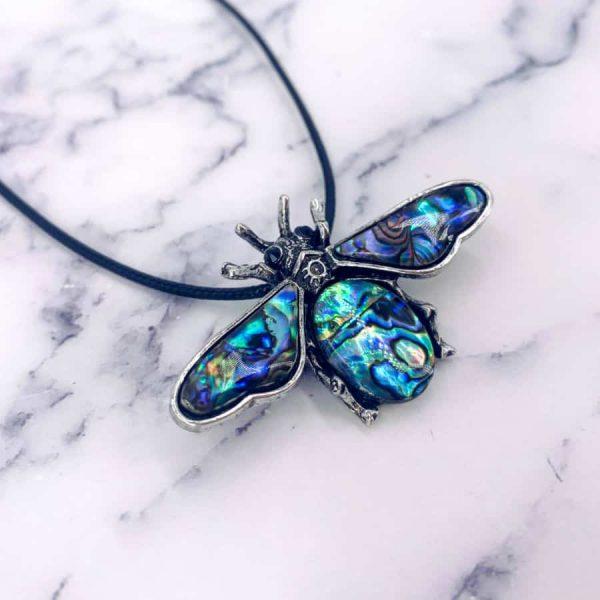 Scarab Beetle Lapis Lazuli Turquoise Rose Quartz Amethyst Abalone Titanium Silver Pendant Brooch1-w900-h900